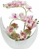 """Цветы декоративные Dream Garden """"Орхидея розовая"""", в керамической вазе"""