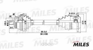Привод В Сборе Audi A4 I 2.8 96-01 Прав. Abs Miles арт. GC02008