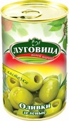 """Овощные консервы Луговица """"Оливки зеленые"""" без косточки, 280 г"""