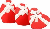 """Набор подарочных коробок """"3 в 1 Сердца"""", 2676211, 3 шт"""