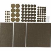 Набор: накладки самоклеящиеся на мебельные ножки STAYER 98 шт., коричневый 40916-H98