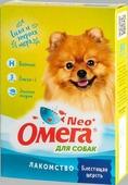 """Лакомство """"Омега Neo+"""" с биотином """"Блестящая шерсть"""" для собак 90 таблеток, 45 г."""