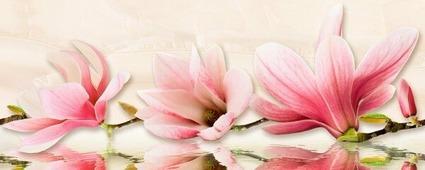 Beryoza Ceramica Мираж серо-розовый Декор 50x20