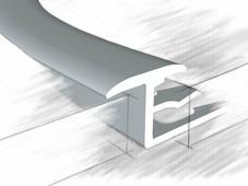 Z профиль для плитки и ламината анод. серебро 270 см