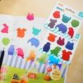"""Закладки-индексы Stick`n """"Животные"""", самоклеящиеся, пластиковые, 20 листов, цвет: разноцветный, 26 х 32 мм"""