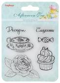 """Набор декоративных штампов ScrapBerry s """"Сладости. Десерт"""", 6 шт"""