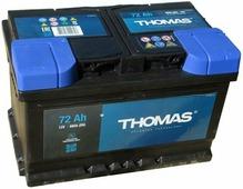Аккумулятор для легковых автомобилей Thomas (72 A/h), 720A R+ низ.