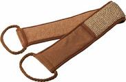 Мочалка Банные штучки, цвет: коричневый, 76 х 8,5 см