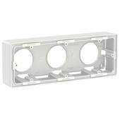 unica new коробка для открытой установки, 3-постовая, белый Schneider Electric, NU800618