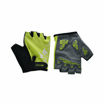 Велоперчатки JAFFSON SCG 47-0001 (чёрный/серый/жёлтый)