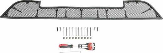 Защитная решетка радиатора Rival для Lada Granta седан 2015-2018, лифтбек 2014-2018, алюминий, черный. RR.6002.1