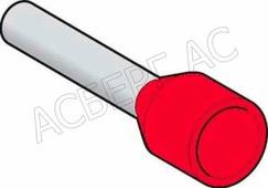 Наконечник изол.1,00 мм.кв красный (1уп.-1000шт) Schneider Electric, DZ5CE010D
