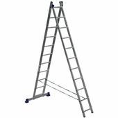 Лестница-стремянка двухсекционная Алюмет 2x11 ступеней (5211)
