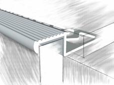 Z образный профиль для отделки ступеней анод серебро.