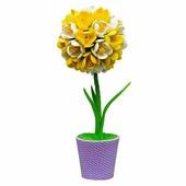 """Топиарий """"Крокусы"""", желто-белые, набор для творчества (Волшебная мастерская)"""
