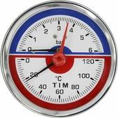 """Термоманометр аксиальный TIM, 10 Бар, 120, 1/2""""н, MP-У"""