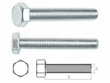 Болт М6х12 мм шестигр., цинк, кл.пр. 5.8, DIN 933 (5 кг.) STARFIX