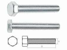 Болт М12х180 мм шестигр., цинк, кл.пр. 5.8, DIN 933 (5 кг.) STARFIX