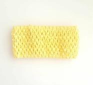 Ткань Caramelkalife Резинка сетчатая, ширина 7 см. Цвет Желтый.