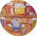 """Набор для вышивания крестом Panna """"Домовой - хранитель очага"""", 24 x 24 см"""