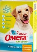 """Лакомство """"Омега Neo+"""" с глюкозамином и коллагеном """"Здоровые суставы"""" для собак 90 таблеток, 45 г."""