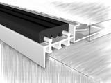 Профиль для ступеней 51853А, анодированный серебро 250 см