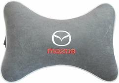 """Подушка на подголовник Auto Premium """"Mazda"""", цвет: серый. 37442"""
