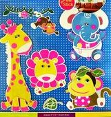 Наклейка Room Décor Неоновые наклейки со стразами 30,5х30,5см ПВХ, Животные