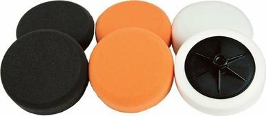 Полировальный круг Chamaeleon, 49310, оранжевый, на липучке, жесткий. 49310