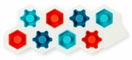 Форма для льда Art. Lebedev Studio Шестеренкус, голубой, красный, синий