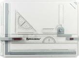 Магнитно-маркерная доска Brauberg, с рейсшиной, треугольником и чертежным узлом, 50,5 х 37 см