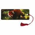 """Закладка для книг с линейкой, 3D-объемная, BRAUBERG """"Красная панда"""", с декоративным шнурком 128103"""