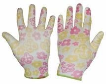 Перчатки защитные Libman Перчатки нейлон с полиуретан. покрытием 8/M WF 27685, бежевый, бордовый, желтый