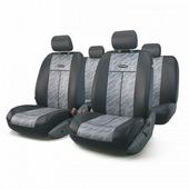 """Авточехлы Autoprofi """"TT"""", цвет: черный, серый, 9 предметов. TT-902J CLOUD"""
