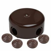 Распределительная коробка D78, коричневый B1-521-22-К BIRONI с 4 кабельными вводами в комплекте