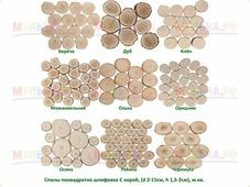 Спилы поквадратно ольха шлифовка С корой (d 2-15см, h 1,5-2см), м.кв.