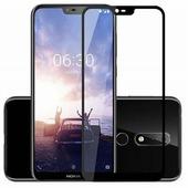 Противоударное защитное стекло Full Screen Cover 0.3mm черное Nokia 6.1 Plus\ X6