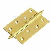 Петля дверная разъемная латунная Morelli 120X80X3.5 левая 70/90 кг матовое золото