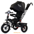 Трехколесный детский велосипед с ручкой Baby Trike Premium (Чёрный) Black