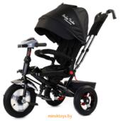 Трехколесный детский велосипед с ручкой 'Baby Trike Premium' (Чёрный) Black