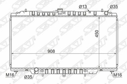 Радиатор Nissan Patrol/Safari Rd28/Td42/Zd30 98-10 Sat арт. NS000Y61D2R
