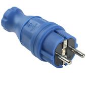 IEK ВБп3-1-0м Вилка прямая омега IP44 синяя PKR01-016-2-K07