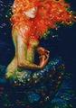 """Набор для вышивания крестом РТО """"Рыжая русалка"""", 25,5 х 36 см"""