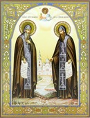 Сергий и Герман Валаамские. Размер (см): 13х16 (Иконы святых)