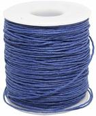 Шнур вощеный, на катушке, цвет: синий, 1 мм x 100 м