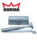 Доводчик дверной Dorma TS 77/3 (белый / серебро / бронза)
