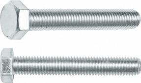 Болт М10х140 мм шестигр., цинк, кл.пр. 5.8, DIN 933 (5 кг.) STARFIX