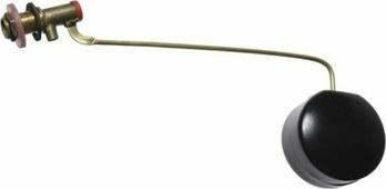 Клапан для бачка MasterProf, с оцинкованной тягой и поплавком, MP-У