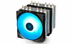 Вентилятор Deepcool NEPTWIN RGB (DP-MCH6-NT-A4RGB) (SocAll, 500-1500rpm, 56.5CFM, 27dBa, RGB подсветка, 4pin)