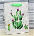 """Пакет подарочный M """"Цветущий кактус"""", 18х23х10 см, матовая ламинация (Miland)"""
